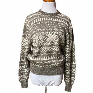 Ted Lapidus Vintage Wool Blend Ski Sweater